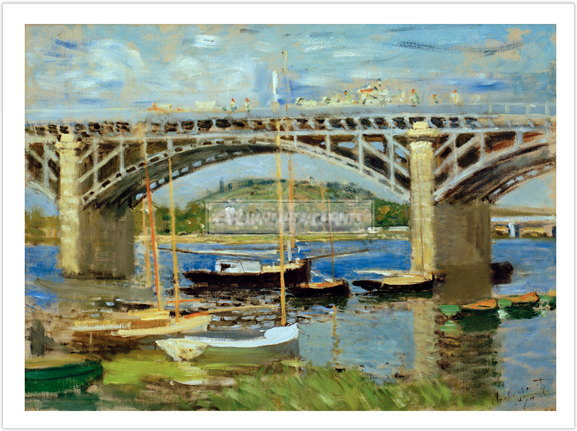 クロード・モネ Bridge over Seine Argenteuil 1874