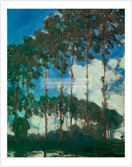 クロード・モネ Poplars on the Epte 1891