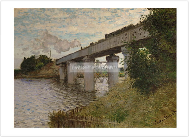 クロード・モネ Railway Bridge at Argenteuil 1873