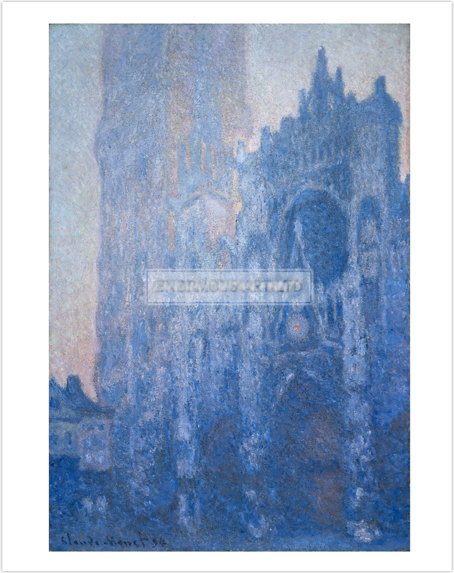 クロード・モネ Rouen Cathedral, Dawn 1894