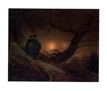 フリードリッヒ   *月を眺める二人の男