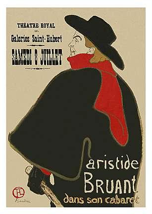 ロートレック   * Aristide Bruant Dans Son Cabaret