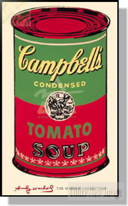 アンディ・ウォーホル *Campbell's Soup Can/ 1965 (green & red)