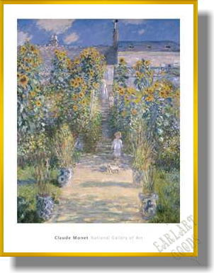 クロード・モネ  *The Artist's Garden at Vetheuil 1880