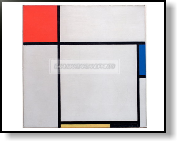 モンドリアン Composition with red, blue, yellow and black, 1929