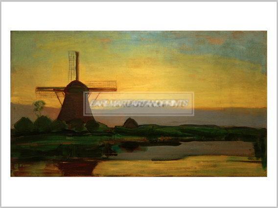 モンドリアン Oostzijd mill in the evening, 1907/08