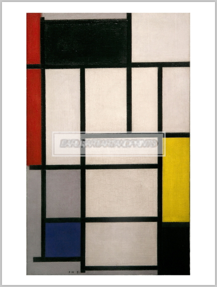 モンドリアン Composition with Red, Black, Yellow, Blue and Grey, 1921